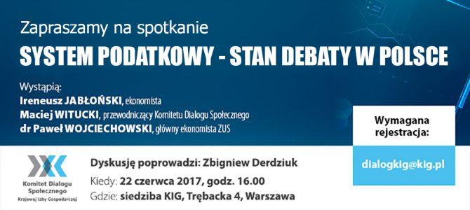 System podatkowy – stan debaty w Polsce