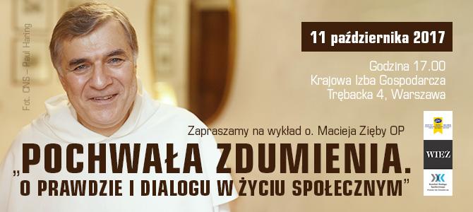 Zaproszenie na spotkanie z o. Maciejem Ziębą OP