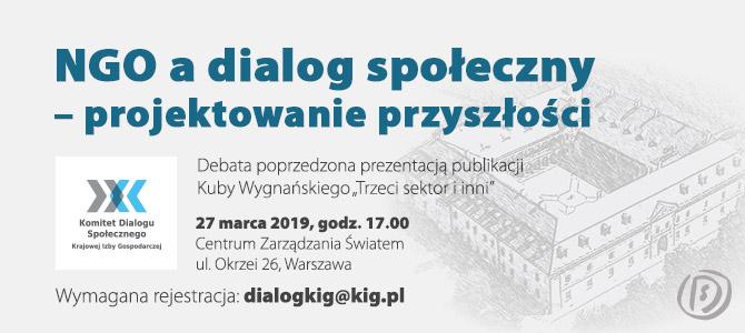 """Zapraszamy na spotkanie """"NGO a dialog społeczny – projektowanie przyszłości"""""""