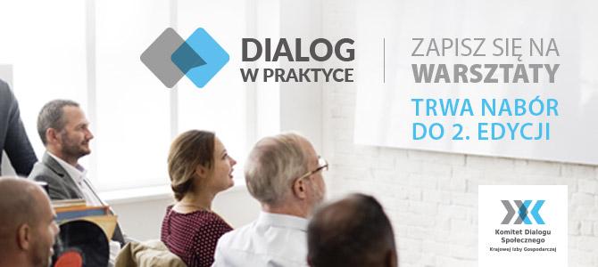 """""""Dialog w praktyce"""" – trwa rekrutacja do kolejnej edycji warsztatów"""