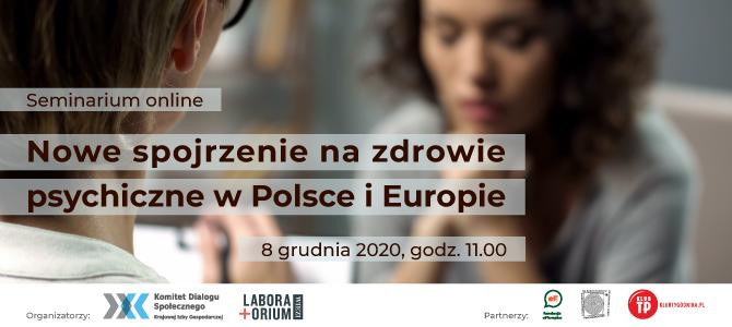 Nowe podejście do zdrowia psychicznego w Polsce – zaproszenie na spotkanie 8 grudnia 2020