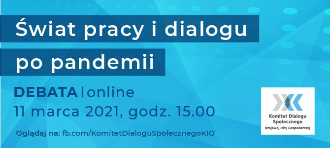 Świat pracy i dialogu po pandemii – zaproszenie na debatę